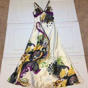 Sz 6 Cache Sleek Formal Gown Full Length